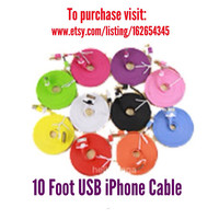 10 Foot & 6 Foot iPhone or Micro USB Cable- Must Be Purchased with Charger