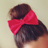 Luscious Red Hair Bow
