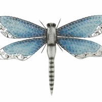 Benzara Gracefully Styled Metal Dragonfly