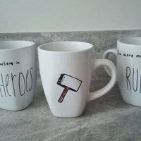 Marvel Avengers Mug (with quote) - Hand-painted coffee or tea mug