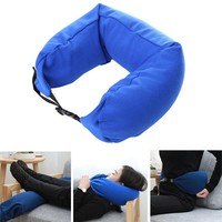Convertible Travel Pillow for Side Back Sleepers Lumbar Support Washable Cushion