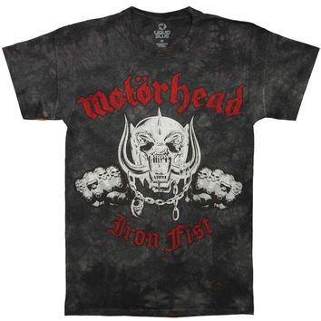 Motorhead Men's  Iron Fist Tie Dye T-shirt Black