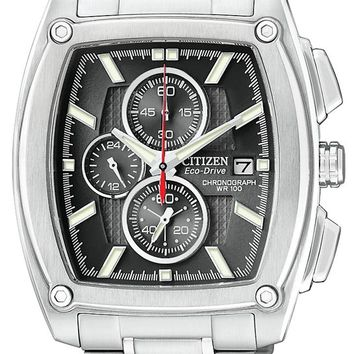 Citizen CA0090-51E Men's Eco Drive Chronograph Stainless Steel Watch