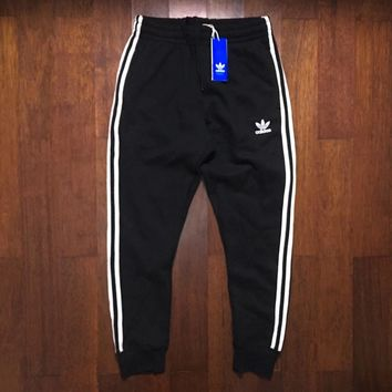Fashion Online Adidas Originals Three Stripe Black Casual Sport Pants Sweatpants