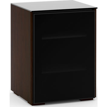 Oslo Audio Rack Cabinet or TV Stand Wenge Black Glass