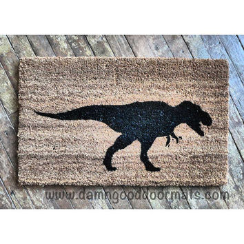 T Rex security warning doormat