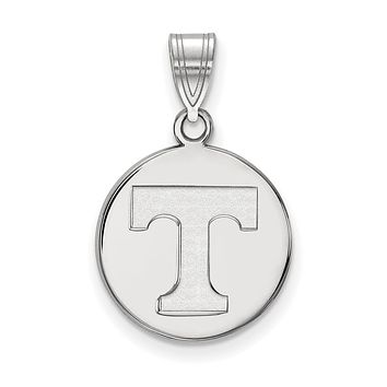 NCAA Sterling Silver U. of Tennessee Medium Disc Pendant Necklace