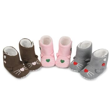 Cute Winter Cat Baby Boots Knitted Size 1 2 3