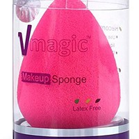 VMAGIC High-End Pro Makeup Sponges for Applicator, Foundation and Highlight - Rose Pink