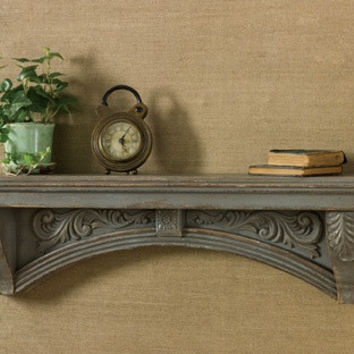 Rustic, Distressed Mantle Shelf
