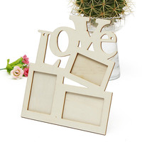 Durable Lovely Hollow Love Wooden Family Photo Picture Frame