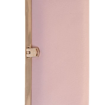 Corsica-Slim French Clasp Clutch Wallet-Saffiano Rose