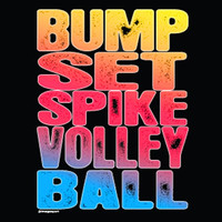 Casual Wear | Distressed Bump, Set, Spike Volleyball T-Shirt