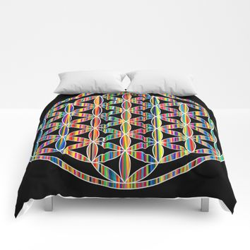 Flower of Life Colored   Kids Room   Delight Comforters by Azima