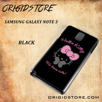 Hello Kitty Snap on 2D Black and White Or 3D Suitable With Image For Samsung Galaxy Note 3 Case