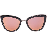 Quay My Girl Black Tortoise Pink Mirrored Shades