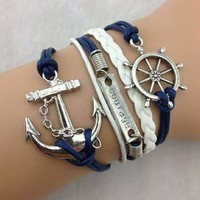 Smooth Sailing Handmade Leather Friendship Bracelet