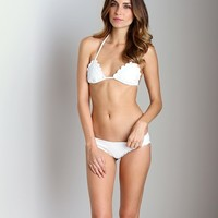 Beach Riot + Stone Cold Fox Lagoon Bikini Top White BRST002 at Largo Drive Underwear & Swimwear