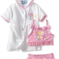 Baby Bunz-Girls Infant Dotty Fish Tod, Pink/White, 24 Months