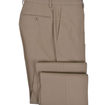 Incotex Brando Brown Super-Dressy Ice Gab Cotton Pant