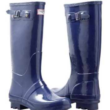 Forever Young - Womens Wellie Rain Boot, Navy Blue 37276-9B(M)US