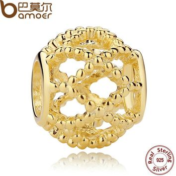 925 Sterling Silver Charms Wanderlust, Gold Charm for Women Bracelet Necklace Accessories PAS107
