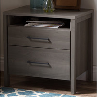 South Shore Gravity 2 Drawer Nightstand & Reviews | Wayfair