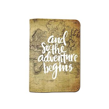 World Map [Name Customized] Travel Leather Passport Holder - Passport Protector - Passport Cover - Passport Wallet_SUPERTRAMPshop