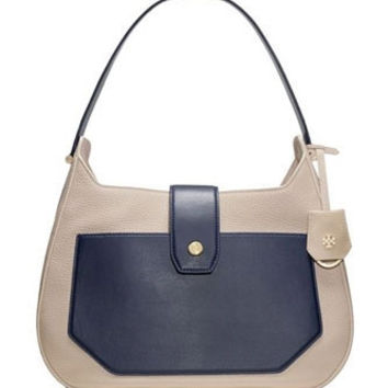 Tory Burch Ellen Colorblock Leather Hobo