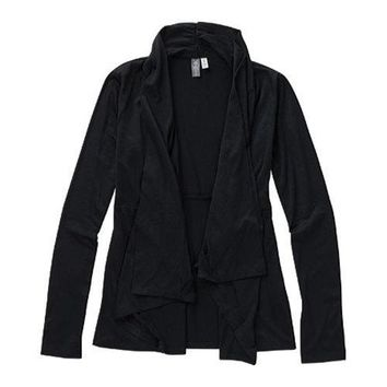 Women's Ibex Cascade Cardigan Black | Overstock.com Shopping - The Best Deals on Juniors' Tops