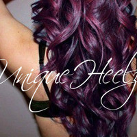 BLACK CHERRY - 20 inch Real Human Hair Extension - 1.5 inch weft (1 clip on back) 1pc - FREE Shipping