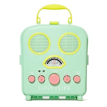 Sunnylife Beach Sounds Portable Speakers/Radio, Aqua