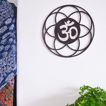 Flower Of Life OM Mirrored Wall Art, Wall decor, wall display, home decor