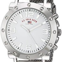 Men's Quartz Watch U.S. Polo Assn.  Metal and Alloy Casual Watch Silver-Toned