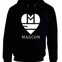 Magcon Logo Girl Versions Black And White Hoodie