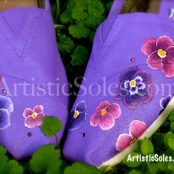 Sweet Petunia Custom TOMS