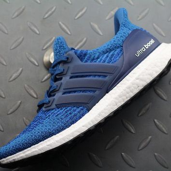 qiyif Adidas Ultra Boost UB 3 AQ8841 Women Men Fashion Trending Running Sneakers Blue
