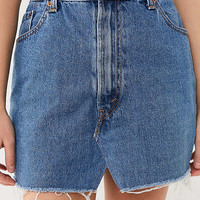 Urban Renewal Recycled Levi's Notched Denim Mini Skirt | Urban Outfitters