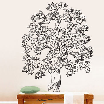 Vinyl Wall Decal Sticker Flowering Tree #652