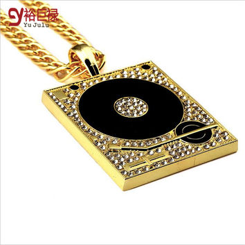 New Necklace Chain Hiphop chains for men Bar DJ Box Diamante Pendant Hipster Street Dance Breaking Jewelry for Men Women