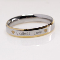 Titanium Wedding Engagement Purity Ring Endless Love Jewelry