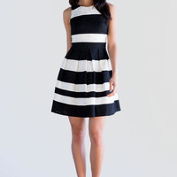 Elyza Lace Striped Dress