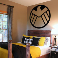 Avengers Agents Of Shield Logo Removable Interior (Matte Black) Wall Art / Vinyl Decal. Home Decor. Living Room / Bedroom