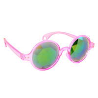 Pink Kaleidoscope Glasses Psychedelic Trippy Lady Gaga Eyewear Crystal Diamond