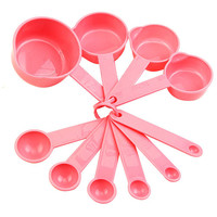 Pink Measuring Cup & Spoon Set