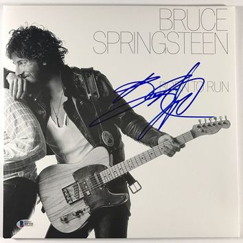 "Bruce Springsteen Signed Autographed ""Born to Run"" Record Album (Beckett COA)"