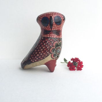 Vintage Mexican Folk Art Owl