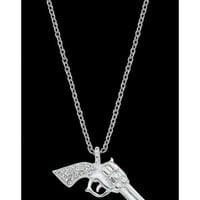 Montana Silversmiths Silver Pistols with CZ Necklace