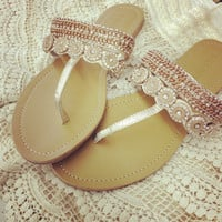 Barbados Rose Gold Diamond Resort Sandals