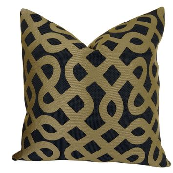 Plutus Graphic Maze Handmade Double Sided Throw Pillow